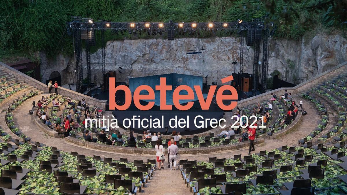 Cartel promocional de betevé, que transmitirá varios conciertos del Grec.
