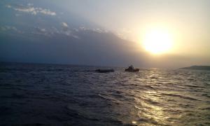 Pateras en la isla de Lesbos.