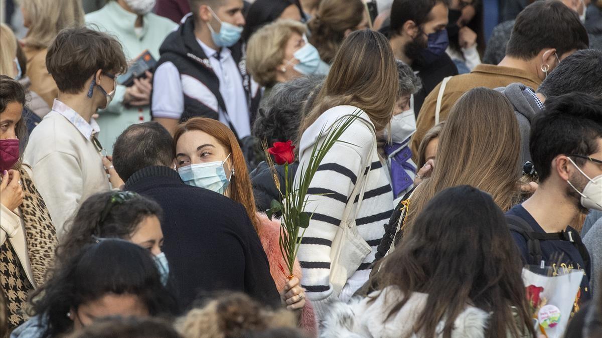Ambient en el passeig de Gràcia.