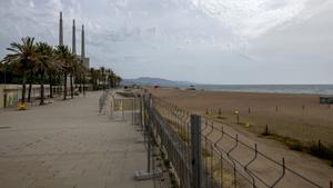 La playa del Litoral, cerrada a los bañistas desde el pasado 29 de mayo y hasta nueva orden