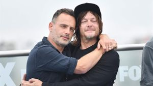 Andrew Lincoln y Norman Reedus, protagonistas de 'The Walking Dead', en el Comic-Con de San Diego.