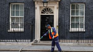 Downing Street, la residencia del primer ministro británico.