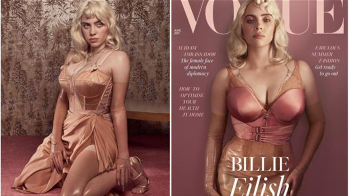 La interprete de 19 anos aparecio en la portada de la edicion britanica de la revista Vogue    Fuente  Billie Eilish