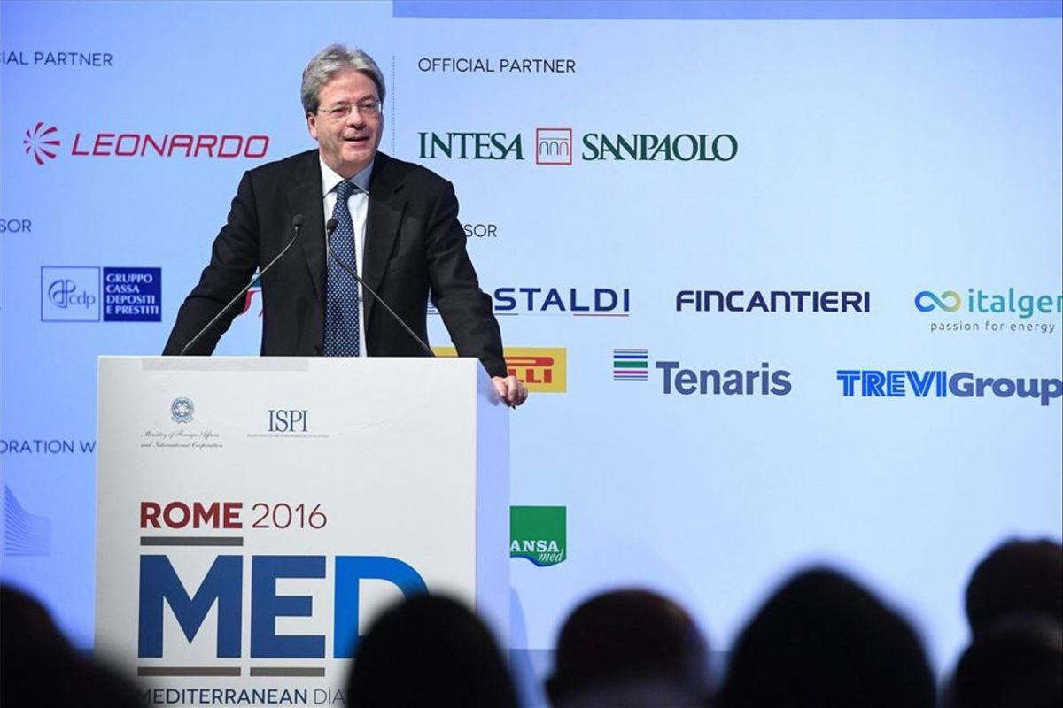 El ministro de Asuntos Exteriores de Italia, Paolo Gentiloni.