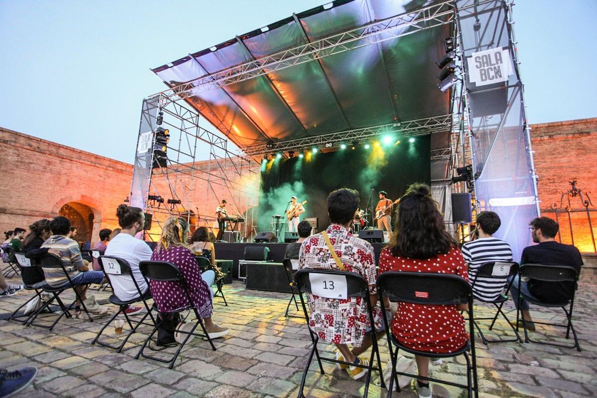 Aspecto de uno de los conciertos en el Castell de Montjuïc.