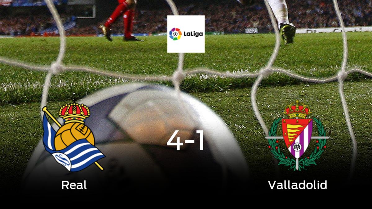 La Real Sociedad suma tres puntos tras pasar por encima del Real Valladolid (4-1)