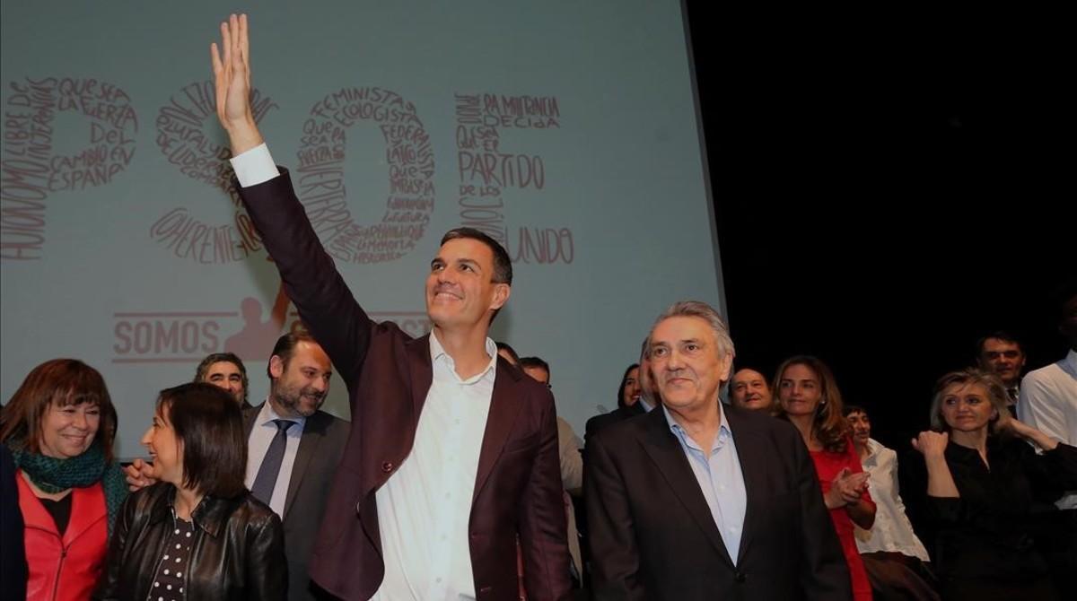Sánchez, durante la presentación de su proyecto político, el pasado 20 de febrero en Madrid.