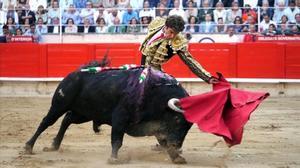 Imagen de archivo de una corrida de toros.