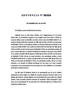 La sentencia contra La Manada por los hechos de Pozoblanco.