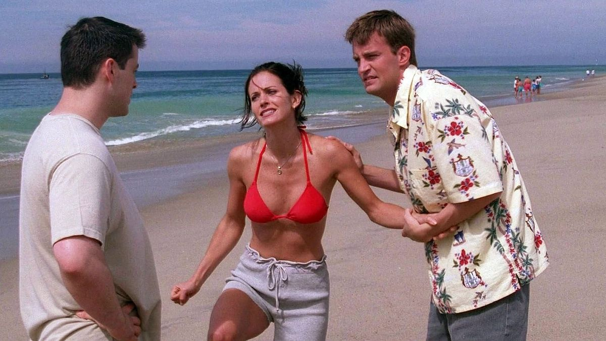 Una imagen del episodio de 'Friends' titulado 'El de la medusa'.