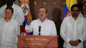 El guerrillero Timochenko en La Habana.