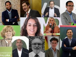 Los 11 diputados de Vox en el Parlament