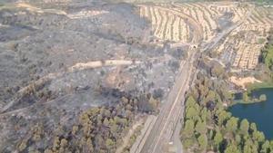 Controlat l'incendi de la Pobla de Massaluca