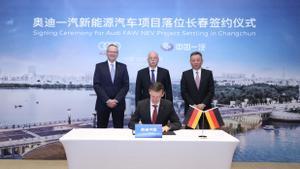 Audi y FAW crean Audi-FAW para producir eléctricos en China