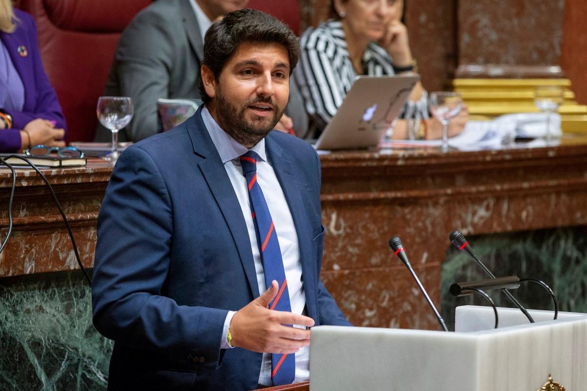 El presidente de Murcia, Fernando López Miras.