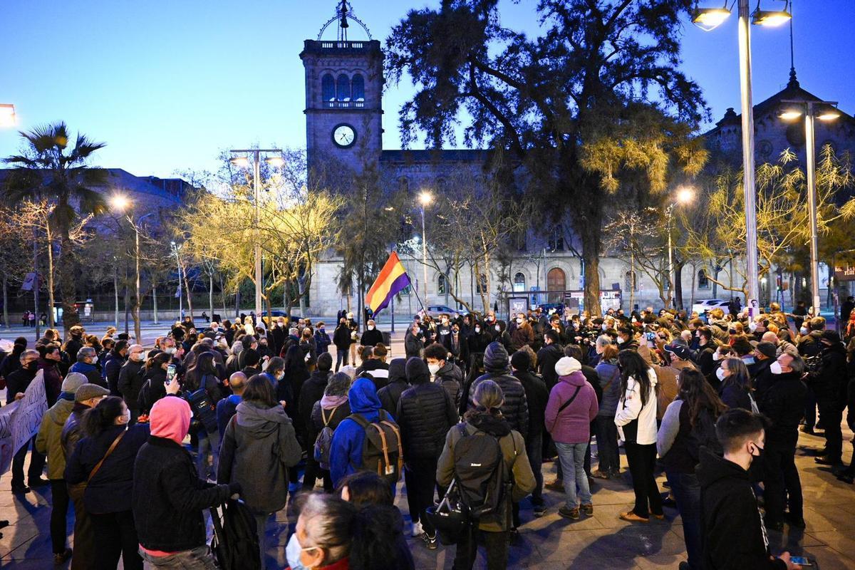 La concentración de Plaça Universitat.