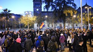 Unes 200 persones es concentren a favor de Hasél en Barcelona