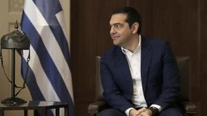 El primer ministro griego, Alexis Tsipras, durante una visita oficial a Jordania en abril.