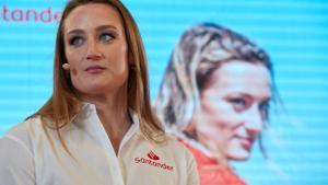 Mireia Belmonte, en el acto del Work Café Santander, banco del que es embajadora