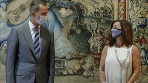 El Rei inicia amb Francina Armengol les audiències amb autoritats de les Balears