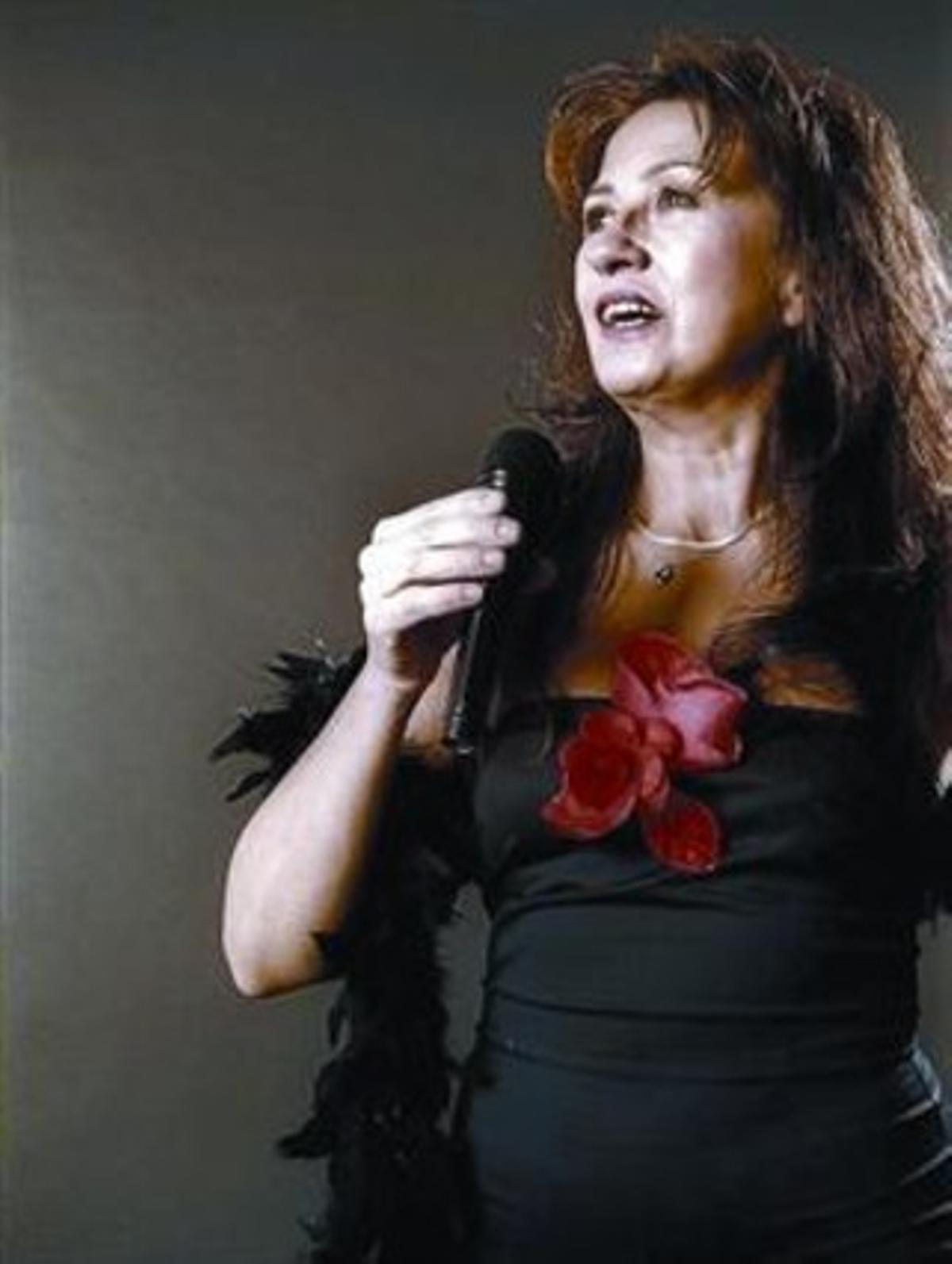 Una imagen de Elba Picó, durante una de sus actuaciones.