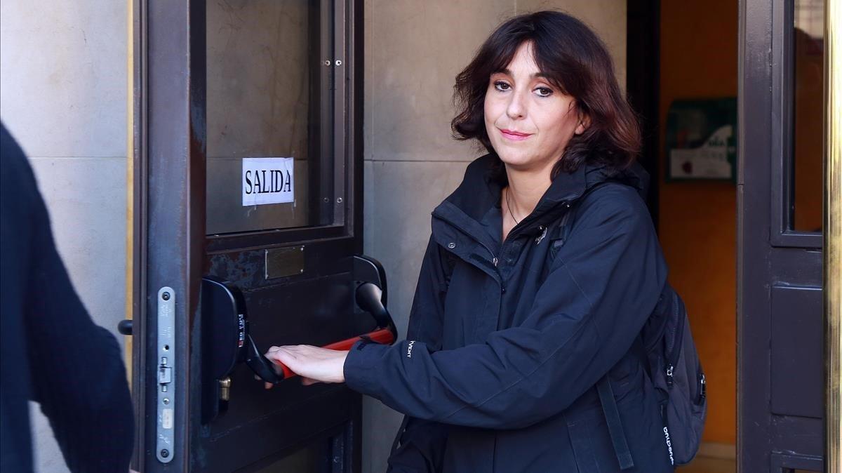 Juana Rivas tras recoger la sentencia que la condenó a 5 años de cárcel.