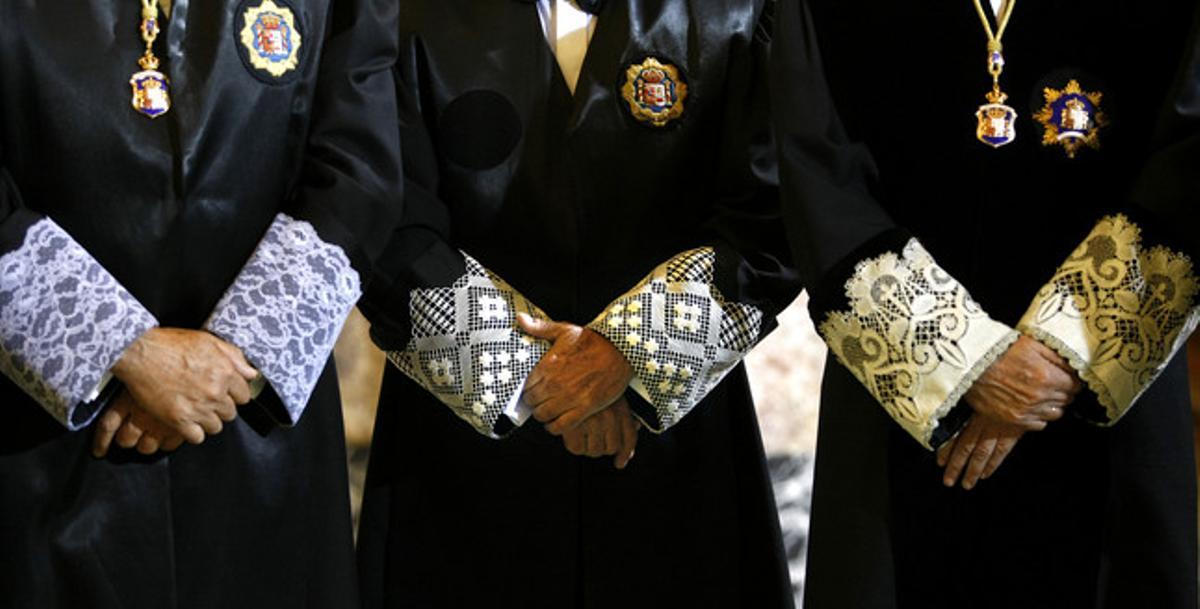 Los togados mantienen un pulso con el ministro Gallardón.