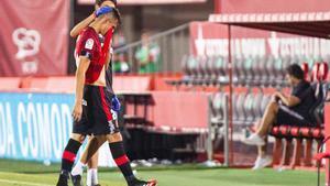El defensa esloveno del Real Mallorca, Martin Valjent, tras el partido contra el Granada.