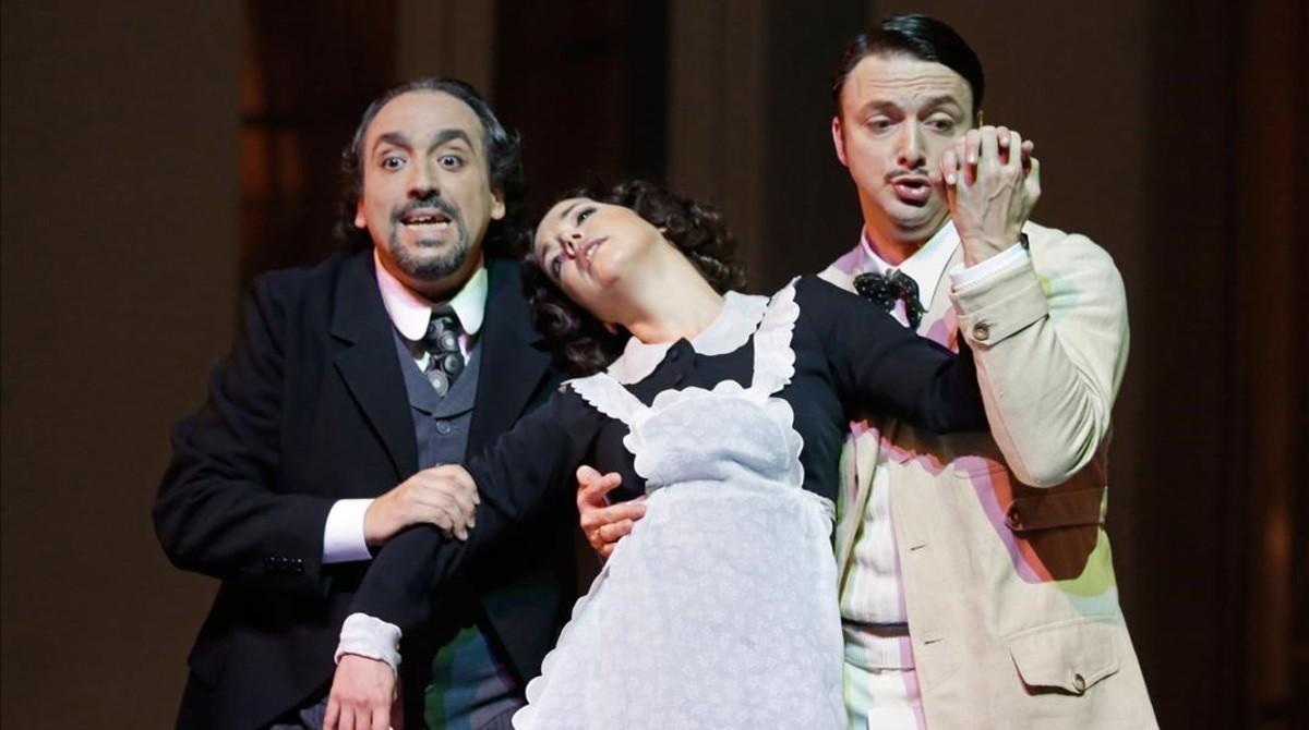 Un momento de la representación de 'Le nozze de Figaro' en el Liceu.