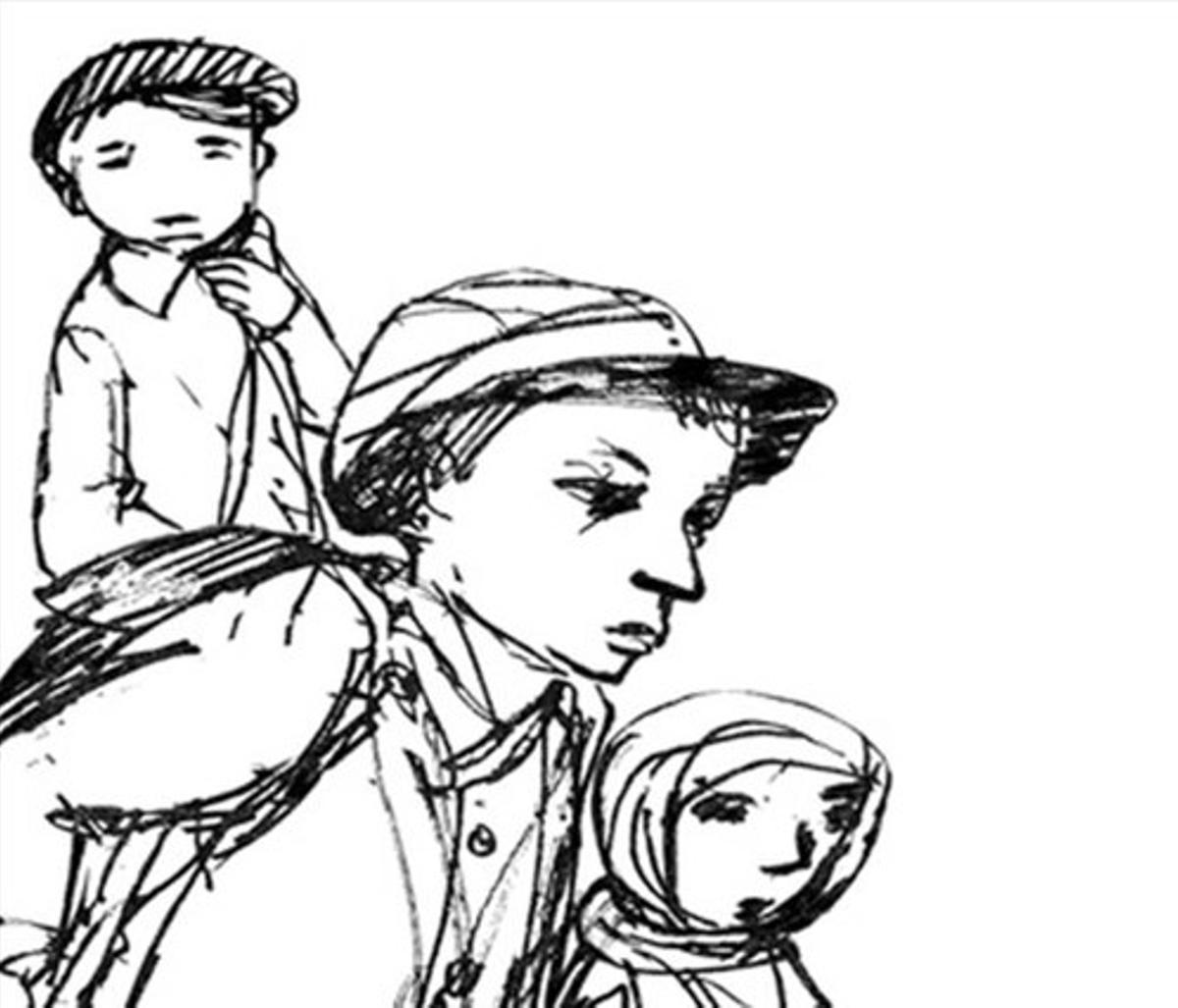 Ilustración de Carme Solé Vendrell en 'La cruzada de los niños'.