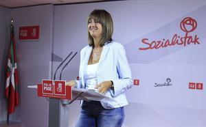 Idoia Mendia, tras ser elegida este martes como secretaria general de los socialistas vascos.
