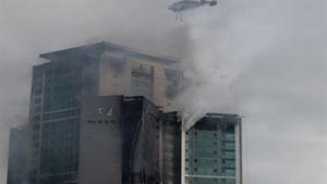 Incendio en un edificio de Corea del Sur.