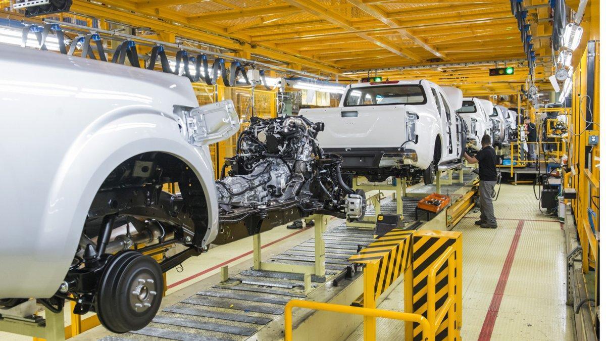 Producción en la planta de Nissan en la Zona Franca de Barcelona.