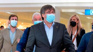 Carles Puigdemont llega a L'Alguer.