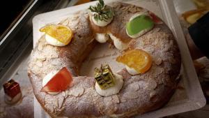 Un roscón de Reyes.