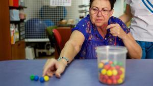 Una participante de un programa social de la Fundación La Caixa.