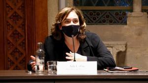 Ada Colau, en la Junta de Seguridad celebrada esta semana.