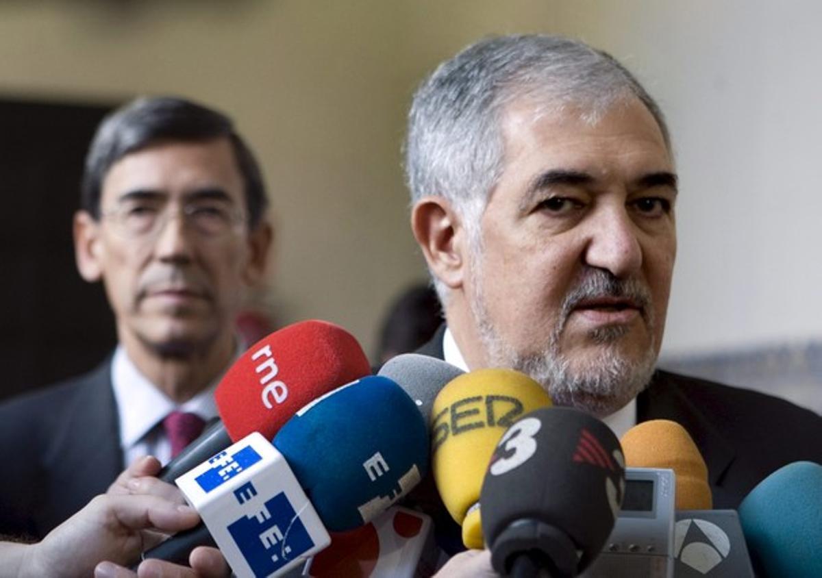 El fiscal general del Estado, Cándido Conde-Pumpido, hoy, en Zaragoza.