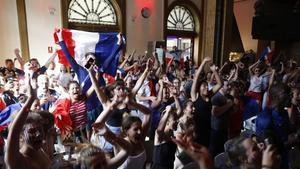 Una imagen para el recuerdo de la estación de França el 15 de julio del 2018.