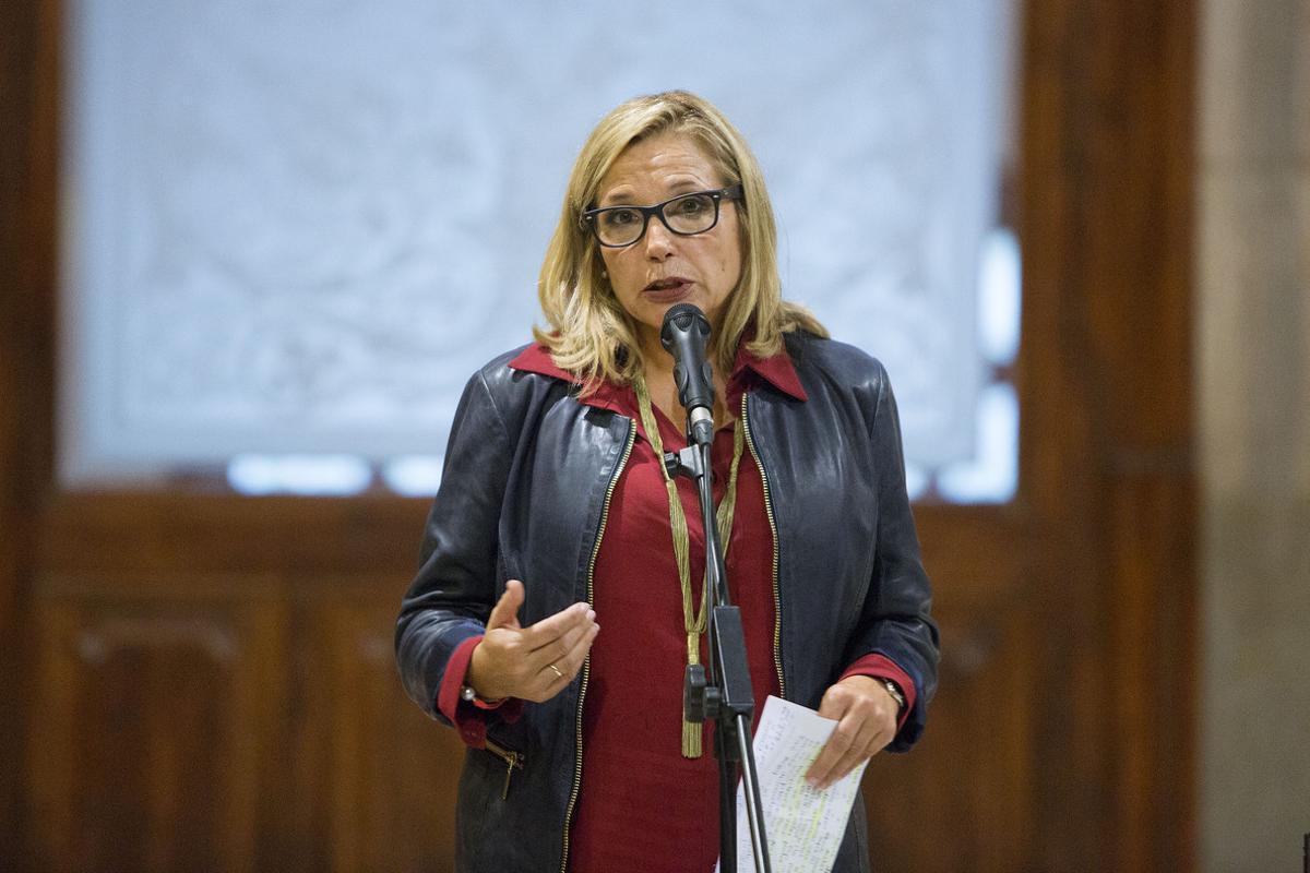 Joana Ortega, en octubre del 2015, cuando acudía a declarar ante el TSJC como imputada por la consulta del 9-N.