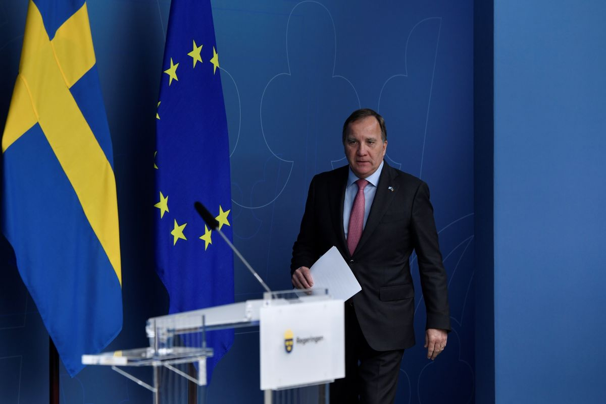 El exprimer ministro sueco, Stefan Lofven, este lunes.