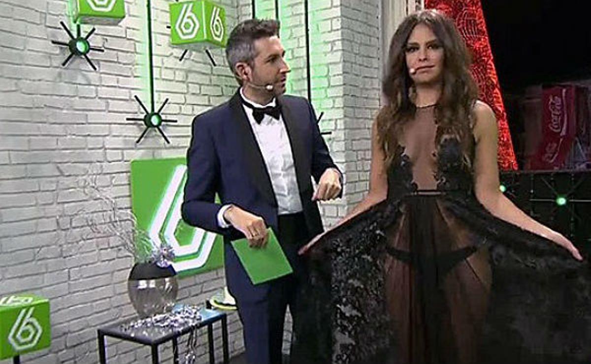 El vestido de tul negro de la presentadora de La Sexta, lo más comentado en Nochevieja en Twitter.