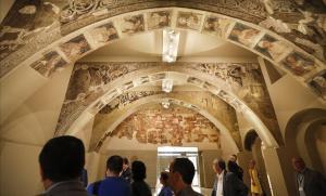 La sala del MNAC donde se exponen las pinturas murales deSijena.