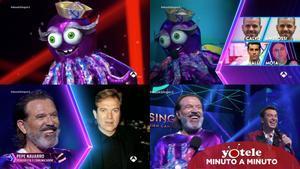 Imágenes de Pepe Navarro durante su paso por 'Mask Singer: Adivina quién canta' como Pulpo.