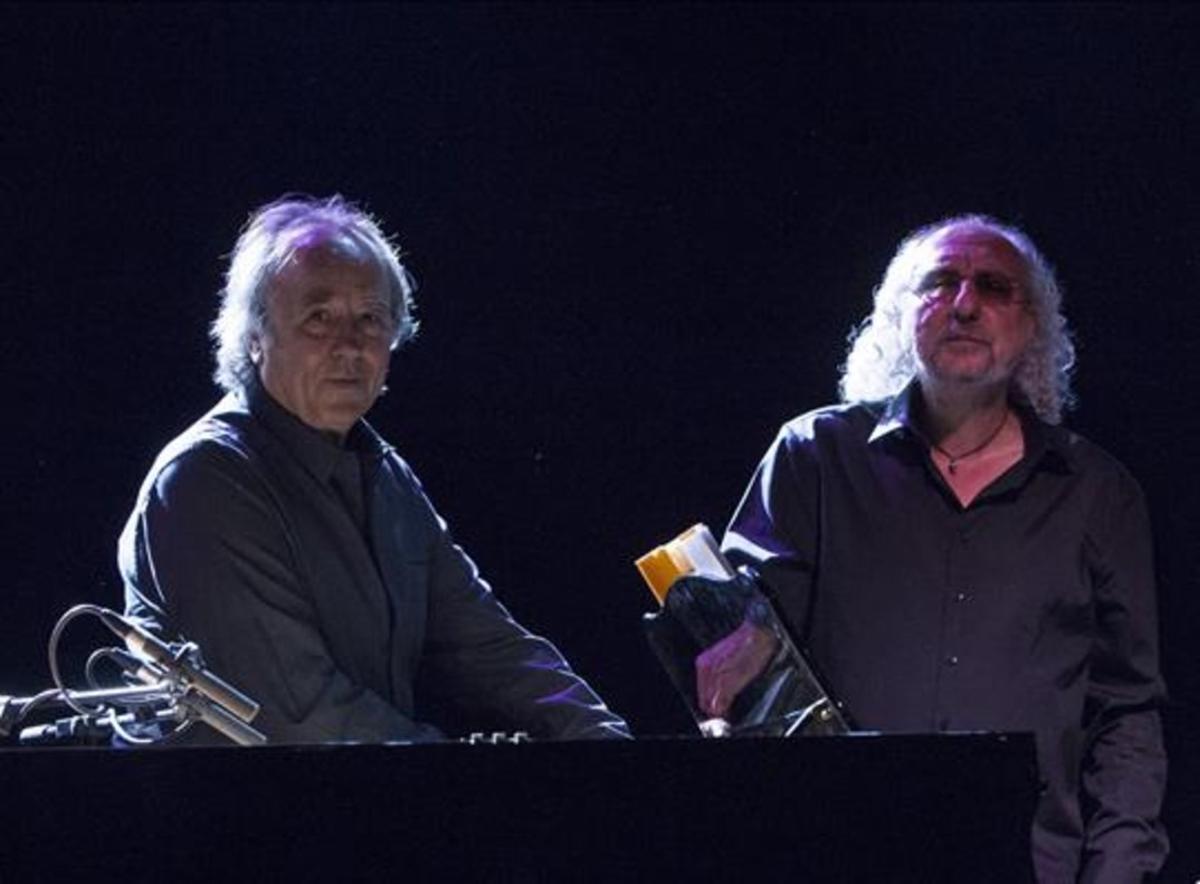 Joan Manuel Serrat y Josep Mas 'Kitflus'.