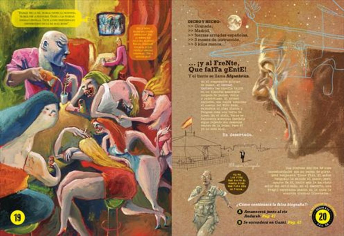 Páginas de 'El niño Nada', cómic del dibujante e ilustrador Víctor Escandell.