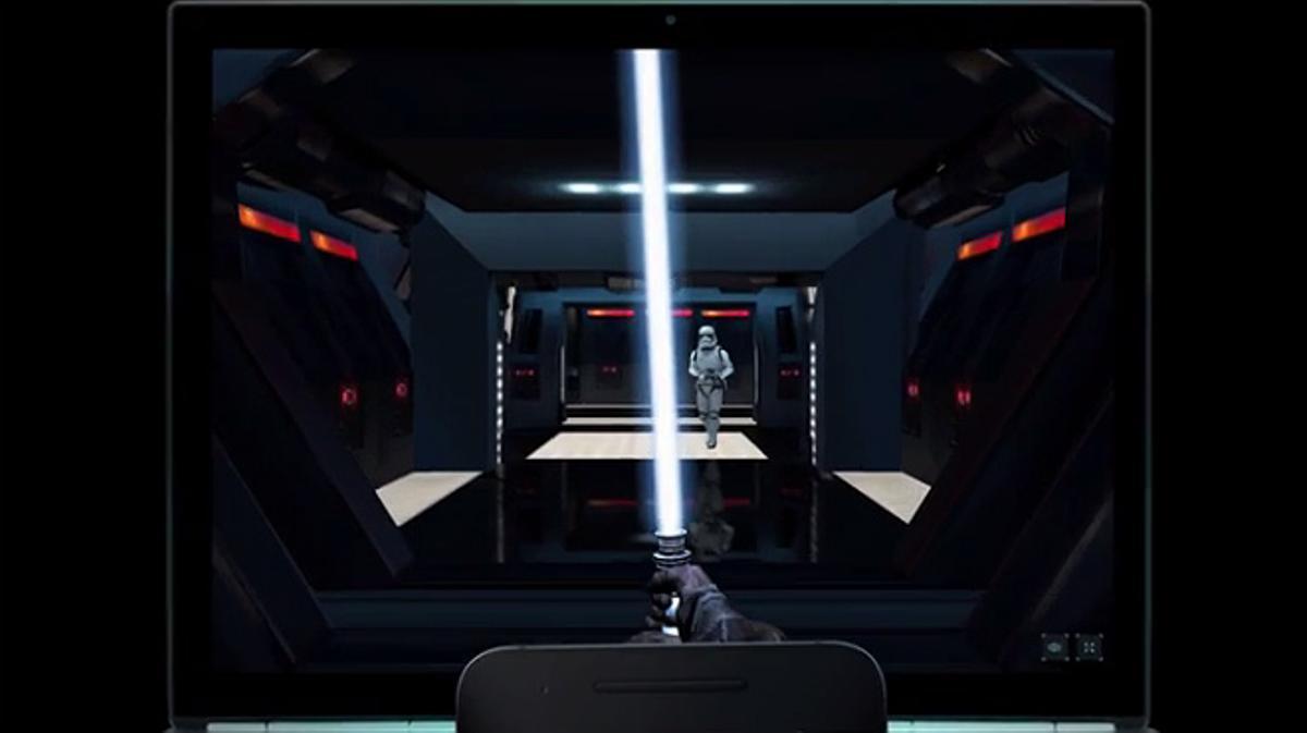 'Lightsaber Escape' es la aplicación gratuita de Google que convierte el móvil en una espada láser.