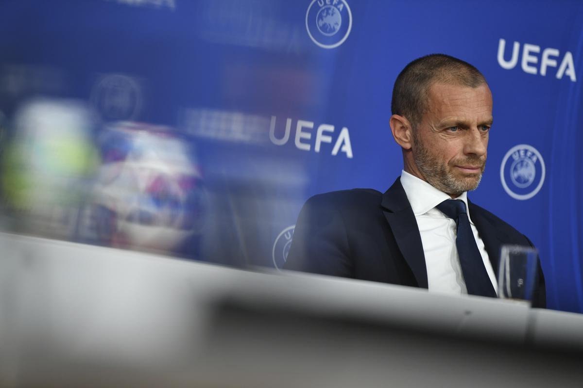 Ceferin, en un acto de la UEFA.