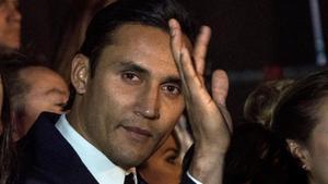 Keylor Navas, en el estreno de su película, en San José (Costa Rica), el 26 de diciembre.