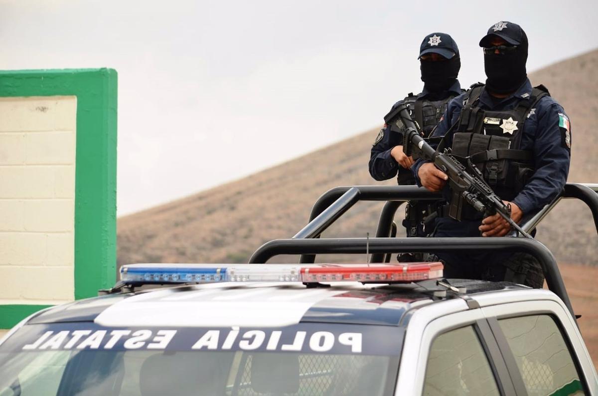 Policía estatal mexicana.